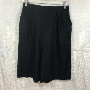 Vintage High Waist Elastic Waist Culotte wide leg